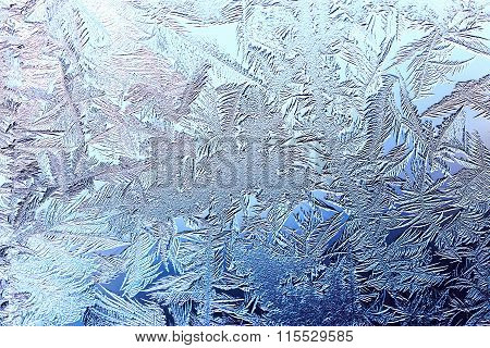 Beautiful Winter Background With Frost
