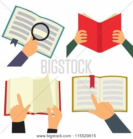 Reading book icons set. Reading book icons. Reading book icons vector. Reading book icons illustration. Reading book icons isolated. Reading book icons flat. Reading book icons art