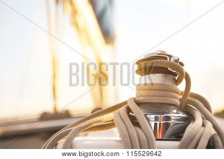 Sailboat Detailed Parts. Yachting Concept