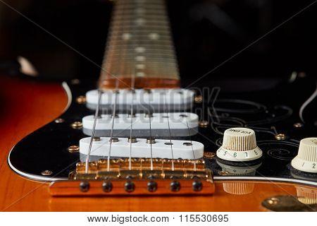 Detail Of Vintage Electric Guitar
