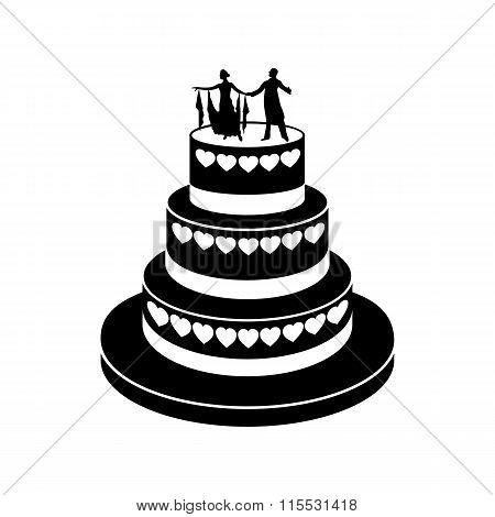 Wedding cake simple icon