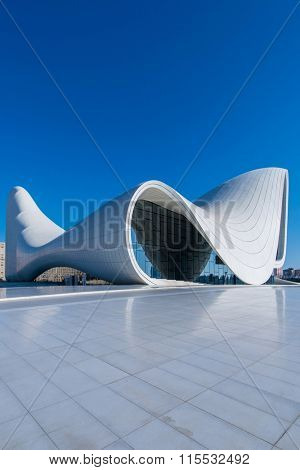 BAKU- DECEMBER 27: Heydar Aliyev Center on December 27, 2014 in Baku
