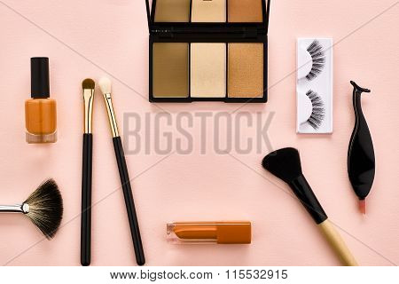 Overhead set, fashion woman essentials cosmetics