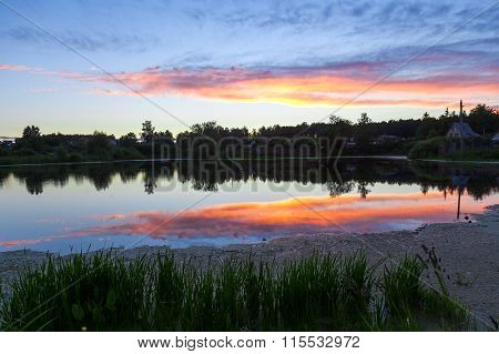 Fine Decline About A Pond