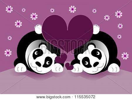 Panda Bears In Love