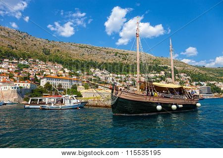 Old Harbor Of Dubrovnik