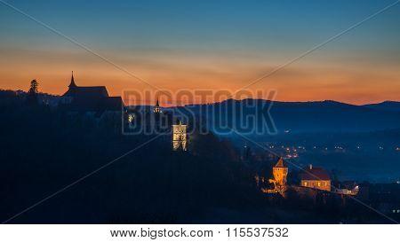 Sighisoara At Sunset