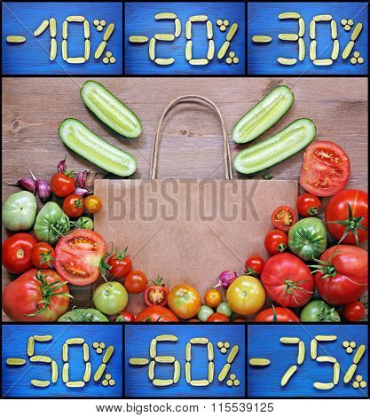 Concept Of Purchase, Sale Of Vegetables Or Discounts.