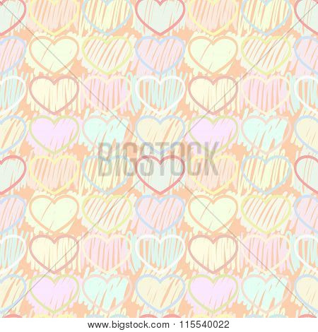 Pattern multicolored hearts