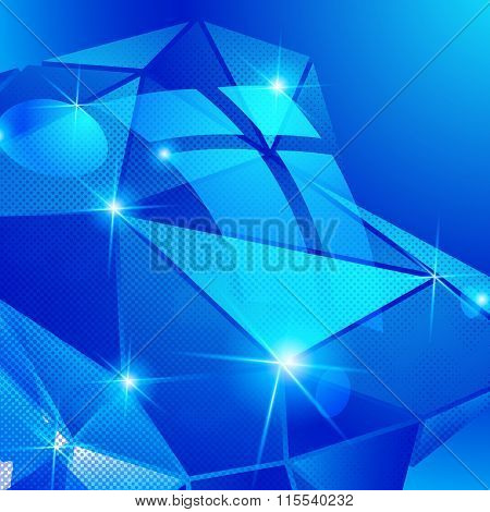 Textured Background With Plastic Deformed Flash Object, Dimensional Backdrop With Pixilated Figure
