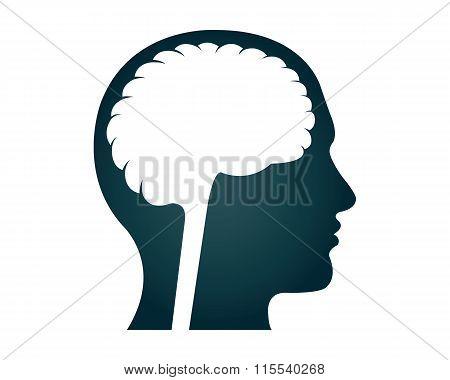 Human Brain Silhouette