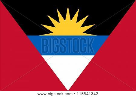 Standard Proportions For Antigua And Barbuda Flag