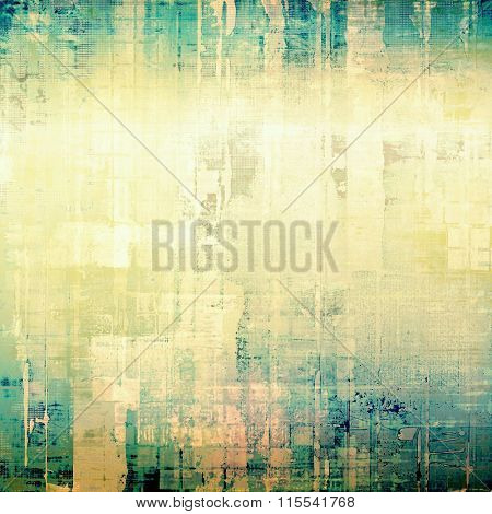 Old texture with delicate abstract pattern as grunge background. With different color patterns: yellow (beige); blue; cyan; green; white