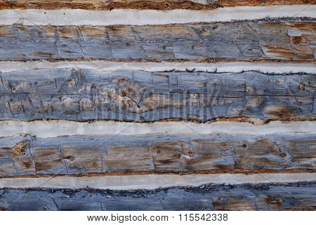 Close Up Shot Of Old Wooden Planks To Build A Cabin