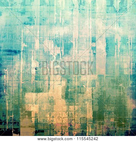 Grunge old-school texture, background for design. With different color patterns: yellow (beige); blue; cyan; green; white