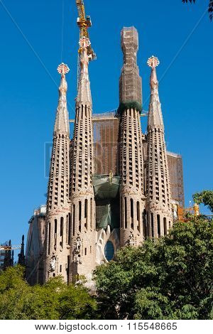 Building The Sagrada Familia Church, Barcelona