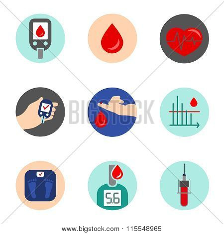 Diabetes Icon vector