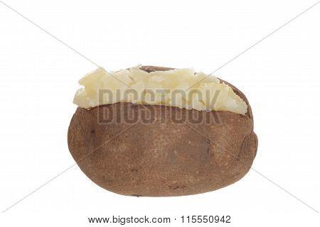 isolated baked potato
