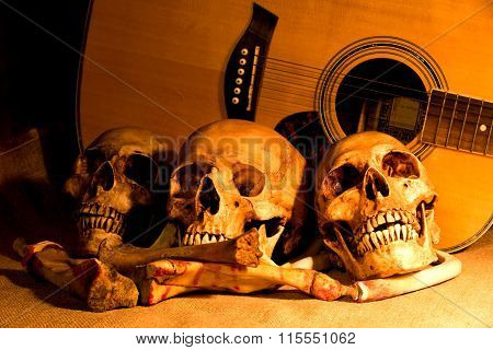 Still Life With Three Skulls