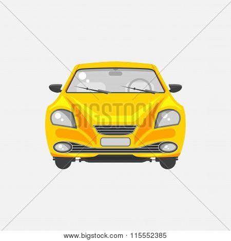 Sedan car front view