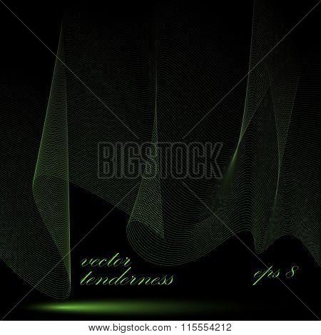Dimensional Motif Elegant Flowing Curves, Passion Background In Motion, Dark Romantic Eps8 Design Ba