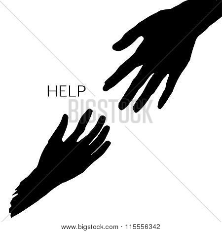 Vector helping hands