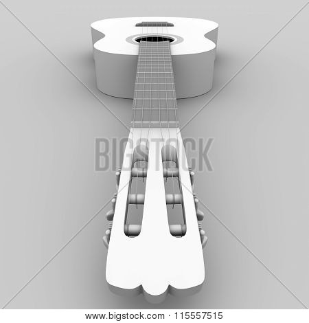 Classical Guitar In Black And White