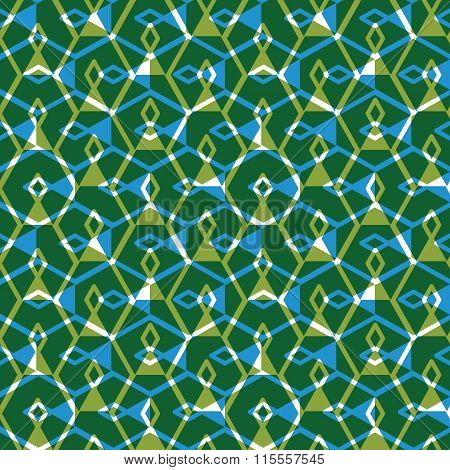 Geometric Messy Lined Seamless Pattern, Bright Transparent Vector Endless Background. Green