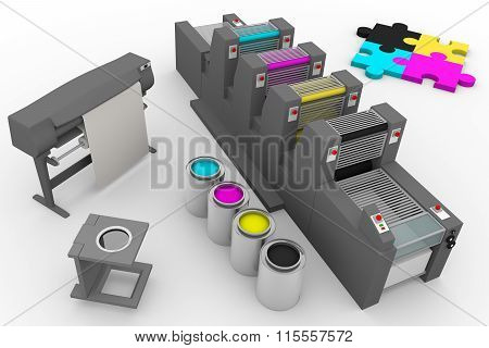 Four Color Print Production Process