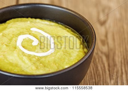 vegetable mash with sour cream