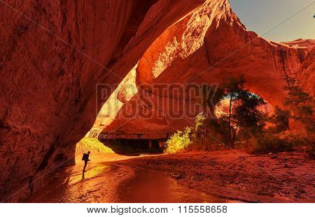 Jacob Hamblin Arch in Coyote Gulch, Grand Staircase-Escalante National Monument, Utah, United States
