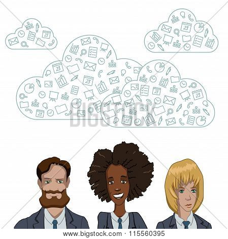 Team networking in the cloud services and technologies.