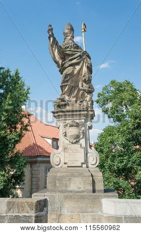 Statue Of St. Augustine D'ippona - Prague