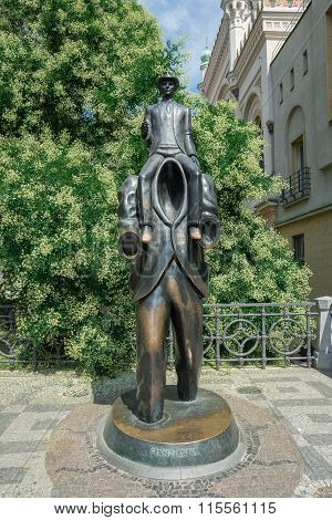 Statue Of Franz Kafka - Prague