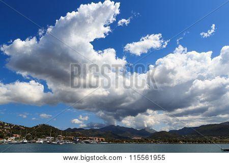 Sky with clouds over Port d'Andratx Majorca Spain