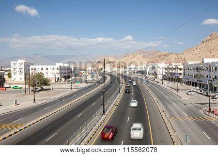 Road In The City Of Nizwa, Oman