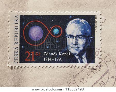 Czech Stamp Bearing The Portrait Of Zdenek Kopal