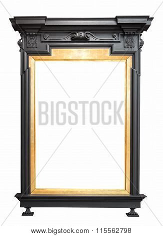 Golden Picture Frame In A Standing Sculpture