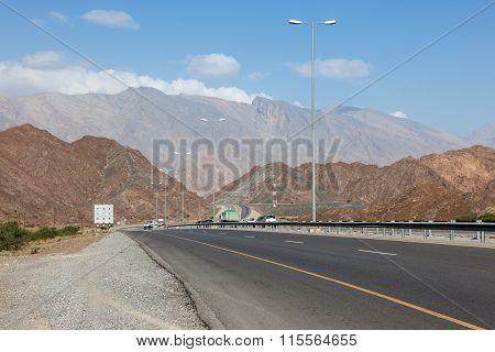 Road To Nizwa In Oman