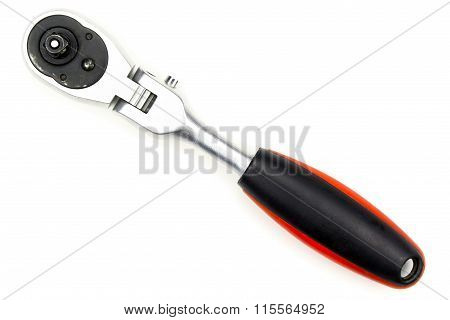 Socket Wrench Isolated On The White Background