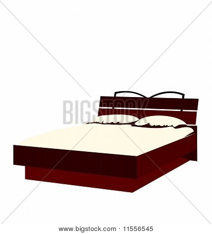 Illustration Of Bed Isolated On White Background