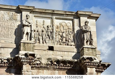 Arch Of Constantine Attic With Dacian Barbarians