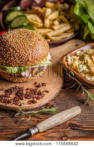 Burger In Sesame Bun