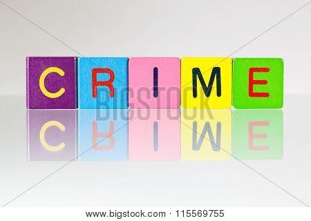 Crime - An Inscription From Children's Blocks