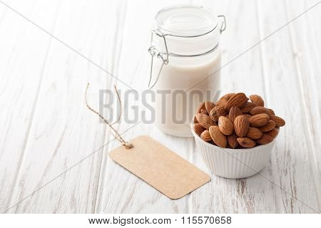 Almond Milk Organic Healthy Nut Vegan Vegetarian Drink