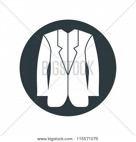 Clothing web icon vector illustration of man jacket.
