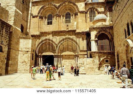 JERUSALEM, ISRAEL - 20 AUGUST 2014: Holy Sepulcher in Jerusalem