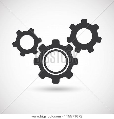 Gears, shift gears, change gears. Vector illustration.