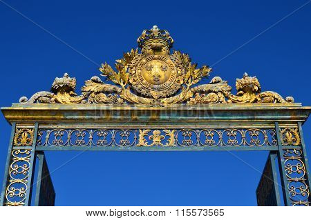 Golden Main Gates of the Versailles Palace