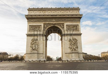 The Triumphal Arch In Paris.